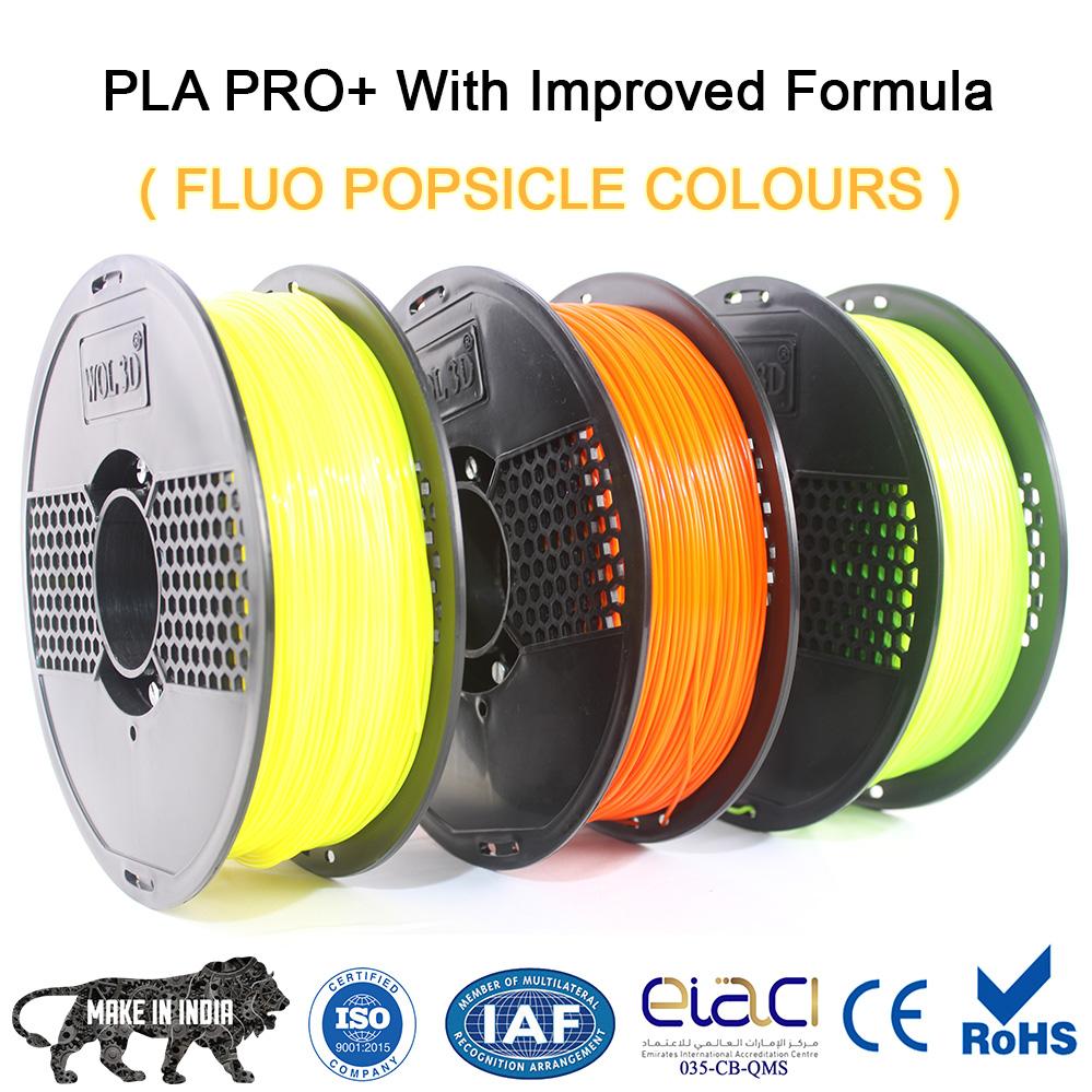 fluorescent 3d filaments