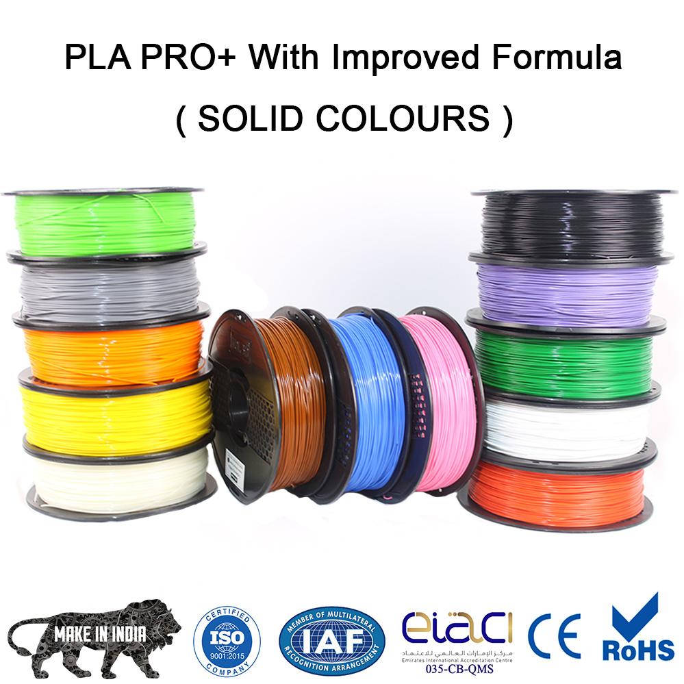 solid colours of 3d filaments