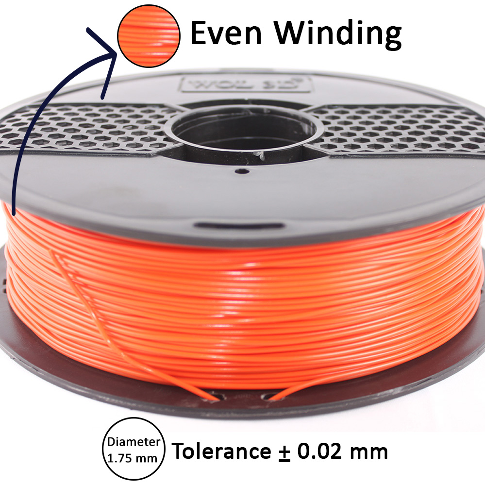 even winding in 3d filament