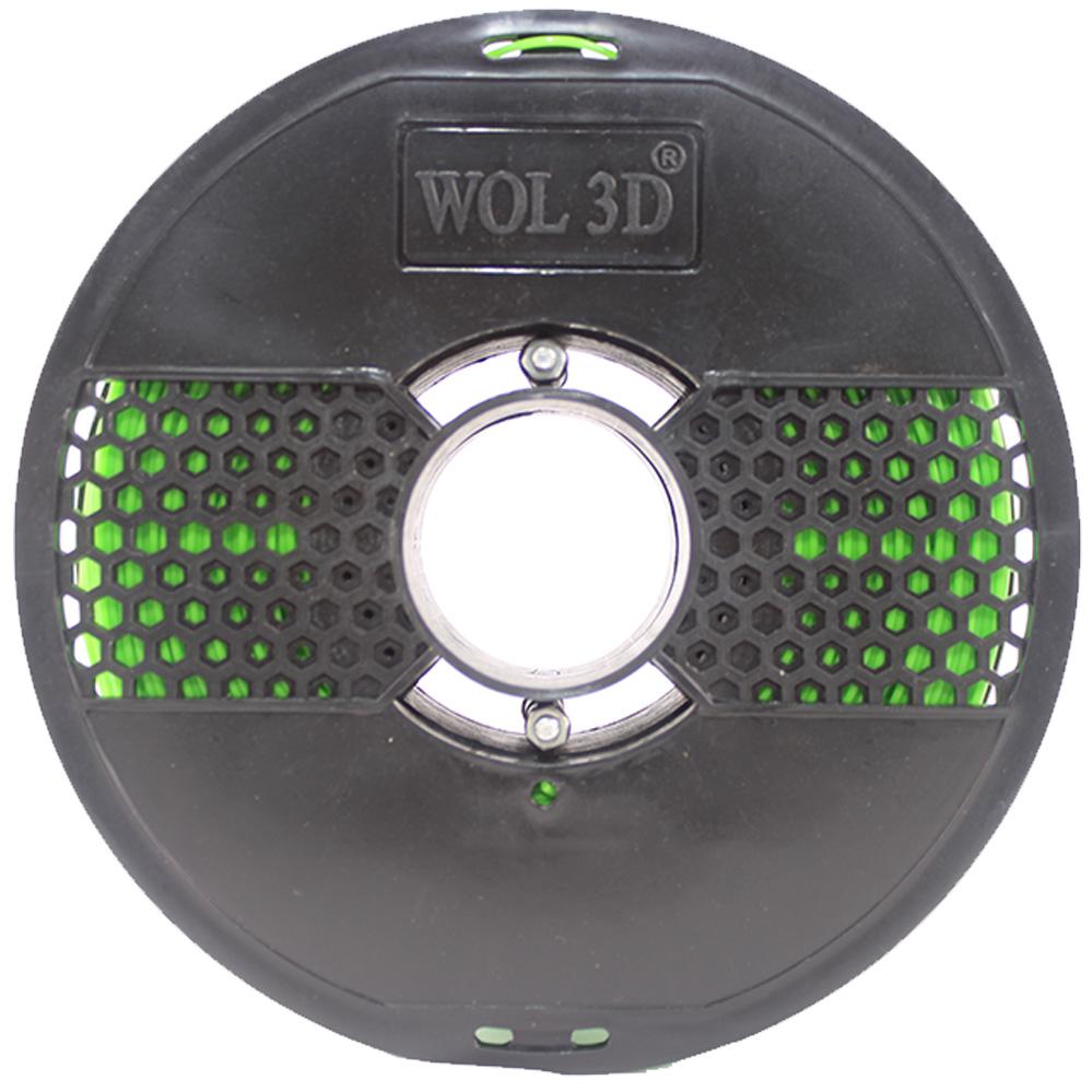 3D Printer Filament Lime Green spool design