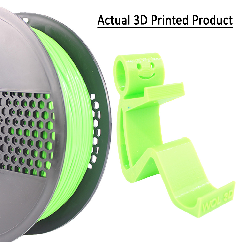 3D Printer Filament Lime Green Printed Part