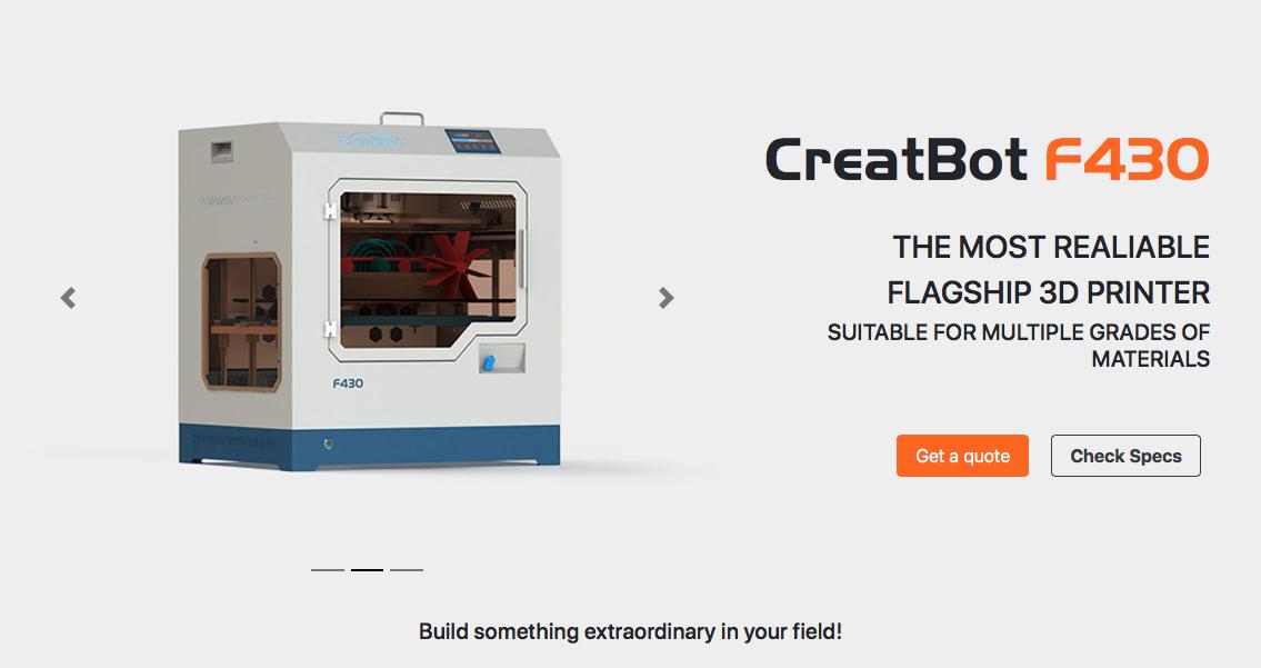 Creatbot F430 High Temp Industrial 3D Printer
