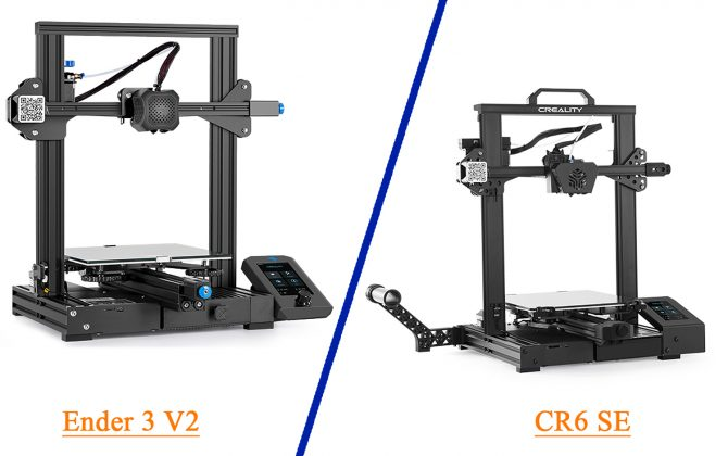 Difference between Ender 3 V2 and CR6 SE